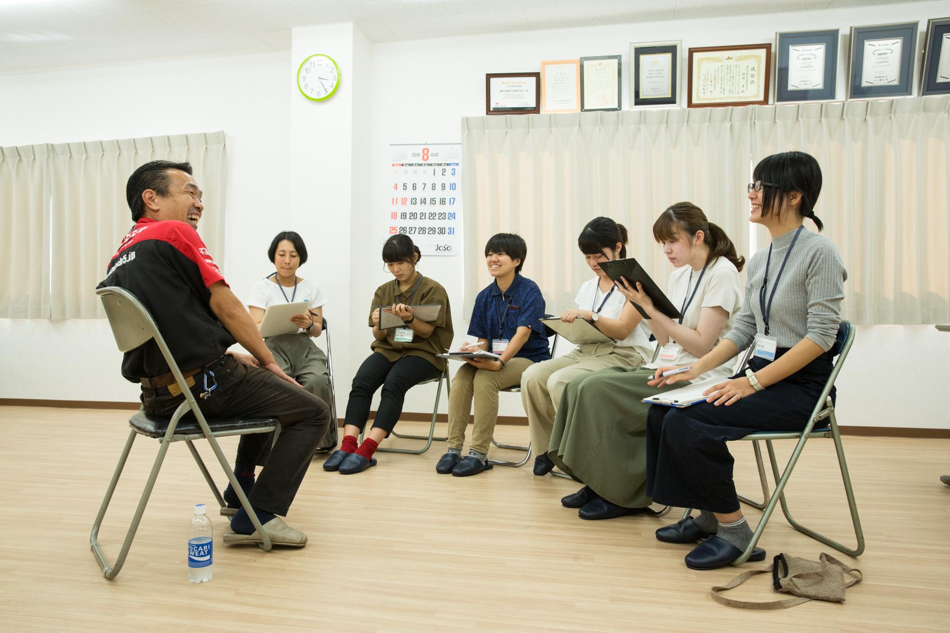 磯﨑自動車 旅する冊子 取材インターン 齊藤さん